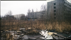 Piekary lskie, Poland. (wojszyca) Tags: urban panorama abandoned 120 mamiya mediumformat ruins kodak decay shift epson 6x7 ektachrome stitched wasteland gossen urbex rz67 75mm 4990 e100g uppersilesia piekarylskie lunaprosbc