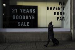 Goodbye Sale (stevedexteruk) Tags: street uk woman london window shop store 21 sale gone carnaby years goodbye 2016