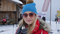up top (Madleeeen) Tags: family winter snow ski cold austria skiing hats sunny amelie grandparents kaiser wilder sledge sledging