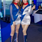The beautiful, sexy presenters for PTT at the 37th Bangkok International Motorshow at IMPACT Challenger Hall in Muang Thong Thani, Nonthaburi, Thailand thumbnail