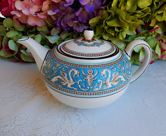 Vintage Wedgwood Porcelain Teapot ~ Florentine ~ Turquoise (Donna's Collectables) Tags: vintage turquoise teapot porcelain ~ wedgwood florentine