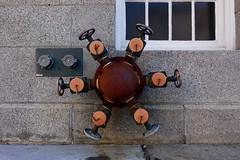big valves (nicknormal) Tags: water siamese sprinkler valve connection standpipe