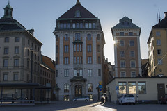 Gamla Stan (new_berlin) Tags: street city light sun architecture backlight sweden stockholm historic altstadt sonne hdr gasse geblendet