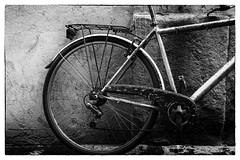 Ready to Ride 2 (jfusion61) Tags: street italy white black monochrome bike bicycle wall florence nikon 2470mm d810