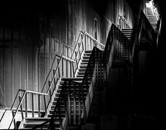 Stairs (hbothmann) Tags: stairs treppe escalera scala siena escalier nachtfotografie  treppenaufgang  langzeitbelichting planar8514za  metalltreppe