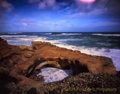 Devil's Punchbowl, Oregon (Paul Swortz) Tags: family vacation color film pinhole pacificocean springbreak newport transparency 4x5 oregoncoast e6 yachats devilspunchbowl 2016 fujivelvia100 swortz harmantitan