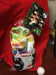 Holly's group gave a bag of small gifts to nursing home residents.
