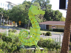 DSCN8480 (Dale_Wiley) Tags: art metal seahorse statues horseshoes