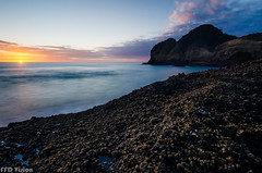 Incompleted 缺 (Mr F Ding) Tags: longexposure sunset seascape beach clouds nikon colours nz bethells 1224f4 nd1000 vsco