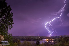 Boom! (The Suss-Man (Mike)) Tags: longexposure sky storm nature rain night clouds georgia unitedstates gainesville thunderstorm lightning thunder slowshutterspeed lakelanier lightningstorm hallcounty weatherphotography thesussman sonyslta77 sussmanimaging