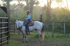 Waiting at Sundown (Get The Flick) Tags: horse arena rodeo cowgirl cowboyhat sundwon georgiahighschoolrodeoassociation