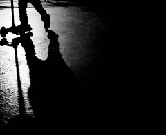 Shadow Play (Dan-Schneider) Tags: street camera shadow people urban blackandwhite bw silhouette photography europe zurich streetphotography olympus scene best human moment schwarzweiss decisive schneider mft einfarbig omdem10