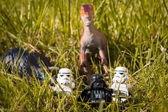 Jurassic Wars (Thieu | Photography) Tags: light studio toys starwars lego dinosaur outdoor stormtroopers stormtrooper jurassic deathstar clonetroopers