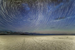 Star Trails over the Bonneville Salt Flats (GSFC Photo Club) Tags: park morning sky night stars dawn utah ut outdoor space may science astrophotography astronomy nightsky polaris northstar startrail 2015 tooele bonnevillesaltflats publicland