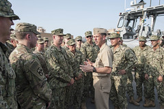 151018-N-SF508-804 (Photograph Curator) Tags: heritage america liberty freedom bahrain commerce unitedstates military navy sailors fast worldwide tradition usnavy manama protect deployed flexible onwatch beready defendfreedom warfighters nmcs chinfo sealanes warfighting preservepeace deteraggression operateforward warfightingfirst navymediacontentservice