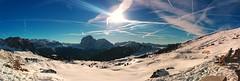 Air traffic over Seceda m(1) (maxo1965) Tags: contrails chemtrails dolomites sdtirol valgardena airtraffic skiarea ortisei geisler seceda stulrich odle trentinoaltoadige cisles wandergebiet