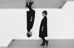 IMG_2790 (Aneta Urbon) Tags: blackandwhite white black art girl wall canon model indoor exhibition indoors inside preperation lithuania corners gallary 6d siauliai