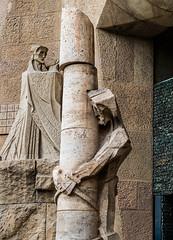 Christ-carrying-the-cross_DSC3007 (Mel Gray) Tags: barcelona church statue spain catholic basilica religion gaudi sagradafamilia religiousart religiousarchitecture