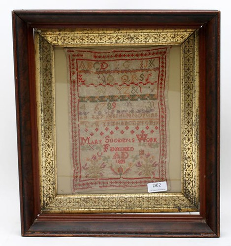 1821 and 1834 needlepoint samplers ($220.00, $374.00)