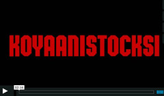 Title screen of Koyannistocksi (katexic) Tags: video koyaanisqatsi tinyletter koyannistocksi