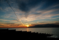 Groyne and spiral cloud_ (TheAstroRV) Tags: sunset sea sun seascape beach clouds sunrise canon landscape kent groyne whitstable