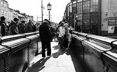 Watch out (lorenzoviolone) Tags: bridge england blackandwhite bw london monochrome blackwhite unitedkingdom strangers streetphotography finepix fujifilm lamps camdentown camdenlock fav10 agfascala200 mirrorless vsco streetphotobw vscofilm fujix100s x100s fujifilmx100s travel:uk=londonapr16