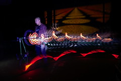 Camilo in Action (Sven Grard (lichtkunstfoto.de)) Tags: longexposure light lightpainting color bulb night lights nikon bmx freestyle nightshot nophotoshop lightart lapp lichtkunst longexpo sooc ledlenser