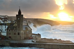 Stormy Sunrise (midlander1231) Tags: winter sea sky seascape storm sunrise landscape coast cornwall porthleven porthlevenstorms
