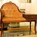 Ornate mahogany fabric table