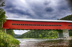 Covered Bridge (Danny VB) Tags: gaspésie canada bridge canon6d covered coveredbridge pont routhierville quebec canon eos 6d sigma 30mm14 red summer july