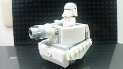 Micro Mini Tank : Snowspeeder's ver. (danielhuang0616) Tags: star tank lego chibi mini micro wars moc 2016 snowtrooper