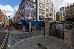 God Save the Queen (scarlet-pimp) Tags: street greatbritain england london westminster architecture spring mural places canon5d timeout hrh elizabethii carluccios thequeen jamesstreet londonist queenelizabethii godsavethequeen cityofwestminster stchristophersplace monach barrettstreet thequeensbirthday cafecreperie canon5dmarkiii bbcengland happybirthdayyourmajesty