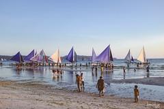 Sailboats (Daniel Y. Go) Tags: travel vacation beach fuji philippines shangrila boracay shangrilaboracay x100t fujix100t