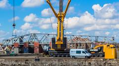 Giek Scheldekraan verwijderd, Vlissingen (Omroep Zeeland) Tags: zeeland vlissingen kms kraan walcheren giek industrieelerfgoed ontmanteling scheldekraan