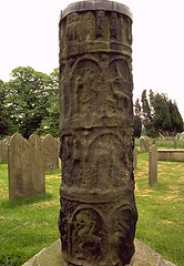 cross shaft at  Masham church, Yorkshire (Hipster Bookfairy) Tags: sculpture church anglosaxon