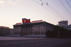 Official headquarters of the Workers' Party of Korea @ Kim Il-sung Square, Pyongyang, North Korea DPRK (Star-ray) Tags: color film square kim kodak north korea il agfa 35 f4 pyongyang silette sung dprk ambi   kimilsungsquare 100d ambion  workerspartyofkorea