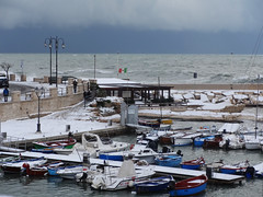 DSC04173 (Katia De Nicolo) Tags: christmas city winter sea sky italy cloud snow clouds wonderful italia mare neve letitsnow 2014 giovinazzo