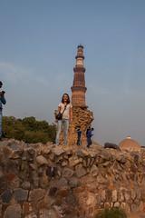 in front of the Qutub Minar (_NicoDem_) Tags: india canon mark delhi ii 5d complex qutub minar 2015 5dmarkii 5dmkii
