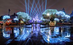 El Nio Comes to Disneyland (calebruckel) Tags: christmas rain night reflections puddle mainstreet disneyland disney thehub sleepingbeautycastle disneylandresort dreamlights disneyparks calebruckel