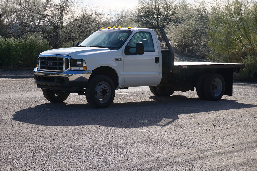 2003 Ford F450 7 3l Flat Bed Diesel Truck For Sale