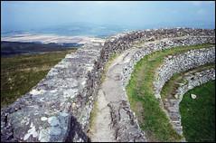Ireland 1981 (3_10) (Hans Kerensky) Tags: road county trip ireland 120 film stone august safety ii 1981 donegal kodacolor grianan ringfort 5035 aileach plustek opticfilm