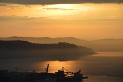 DSC_2101 (angie_amore7) Tags: sunset sea sky port view hills slovenia beautifulview beautifulsunset
