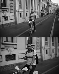 [La Mia Citt][Pedala] con il BikeMi (Urca) Tags: portrait blackandwhite bw bike bicycle italia milano bn ciclista biancoenero mir bicicletta 2015 pedalare dittico bikesharing nikondigitale bikemi ritrattostradale 795268