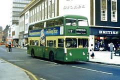Slide 043-12 (Steve Guess) Tags: uk england cleveland transit gb northern middlesbrough daimler fleetline counties ncme