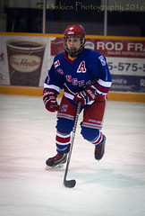 Ashley takes off (13skies) Tags: blue playing game cold net ice hockey blueline hard fast points stick midget helmut skates penalty pads fastpaced centreice kitchenerladyrangers