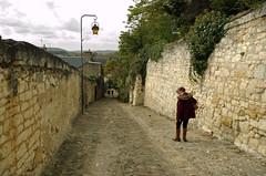 Chinon (Indre-et-Loire) (sybarite48) Tags: street city cidade france muro wall pared alley call strada wand ciudad stadt rua ruelle rue mur vicolo ville parede stad aleja citt beco chinon gasse straat  sokak miasto callejn duvar  steeg     indreetloire    ulica  strase ciana  ehir   geit