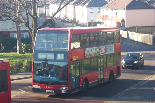 London General DOE25 on route 80 Sutton Green 20/01/16  - a
