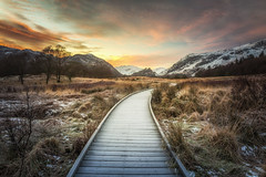 The Frozen Path (Vemsteroo) Tags: trees winter snow cold nature sunrise canon dawn frozen frost path lakedistrict dramatic cumbria 5d derwentwater epic mkiii castlecrag borrowdale 2470mm circularpolariser visitengland thewayforward leefilters uksnow visitbritain