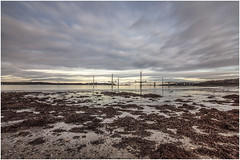 from Hopetoun House Beach (Jistfoties) Tags: longexposure seascape construction nd letterbox riverforth southqueensferry forthbridges civilengineering hopetounhouse bigstopper pictorialrecord queensferrycrossing