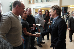 Rand Paul with supporters (Gage Skidmore) Tags: paul university thomas senator kentucky president rally center iowa dubuque campaign rand myers massie caucus 2016
